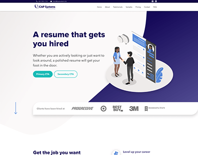 CAP Systems - Website Redesign