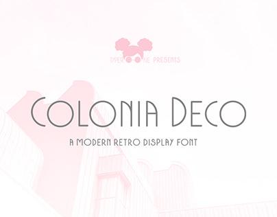 Colonia Deco Display Font