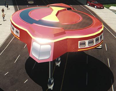 Futuristic Gyroscopic Bus Transport