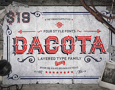 Dacota Layered Typeface - Released!