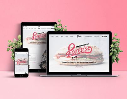 Loren's Cafe - Web Design