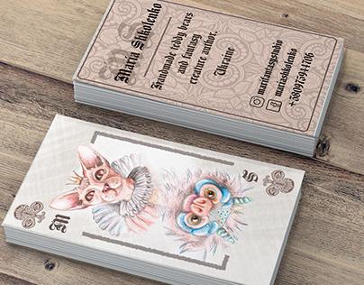 Creature author's business card design