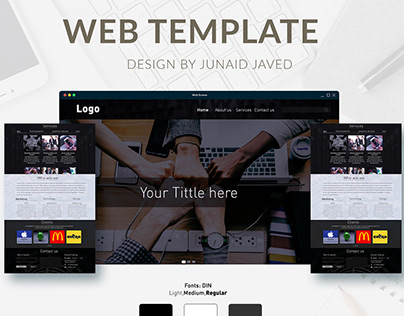 Digital Marketing web template/UIUX