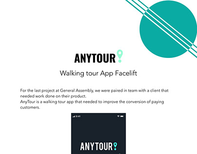 Walking tour App Facelift