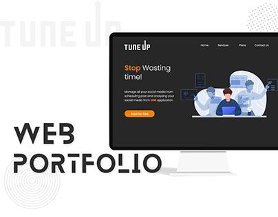 Tune Up Landing Page - Web Portfolio
