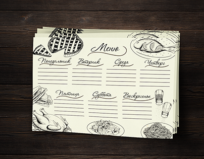 Food illustrations for shopping list