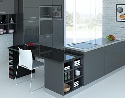 Kitchen design for furniture factory