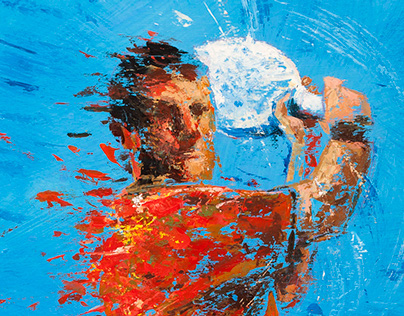 Sport paintings 2014-acrylic on board