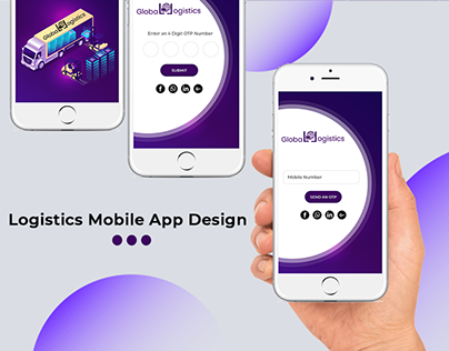 Logistics Mobile App Design