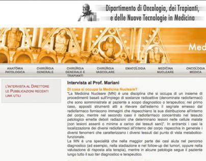 Oncology unit - Web site