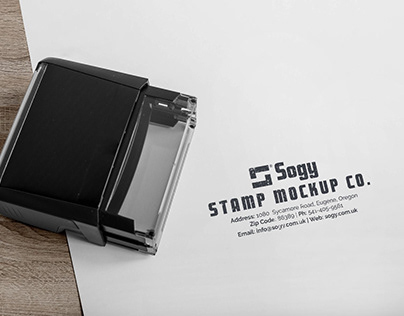 Free Self-Inking Rubber Stamp Mockup PSD