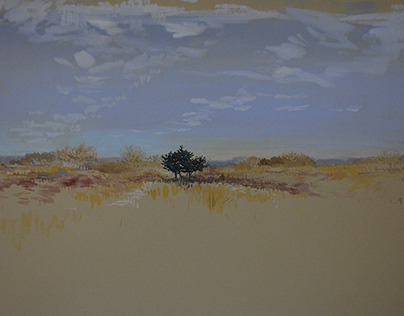 the Dunes...Winter Sketching