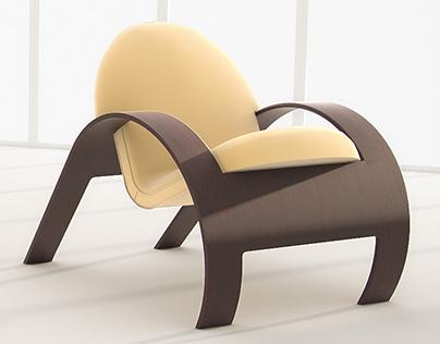 Contemporary armchair by Allan Niilo - Ilustração 3D