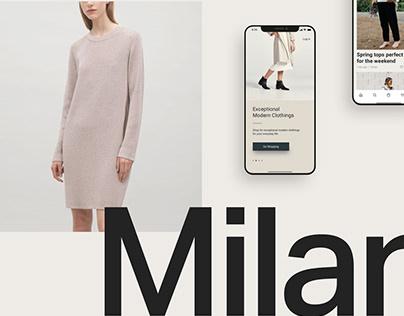 Milan Fashion App UI Kit