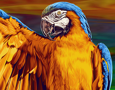 Parrot - Digital Painting