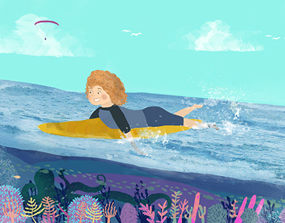 Lavie Learns to Surf