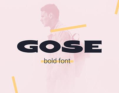 Gose - Free font