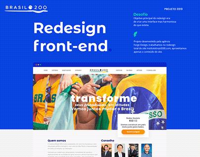 Instituto Brasil 200 - Redesign