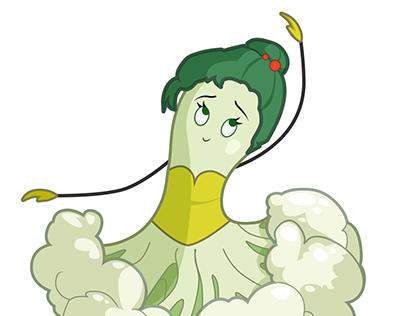 A cauliflower ballerina