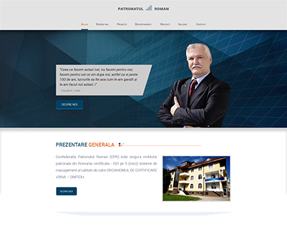 Romanian Patronage Confederation - web design - v. 3