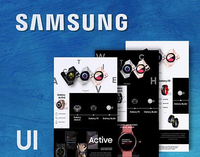 Samsung wearable UI
