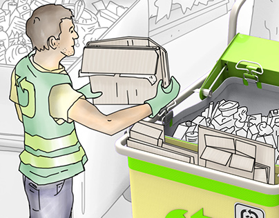 Saprofit Recyling Cart and Recycling System Design