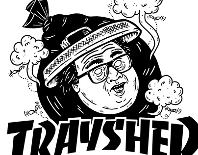 Traysher Mashup Sticker Design