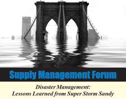 2013 ISM-NJ Super Storm Sandy Disaster Management