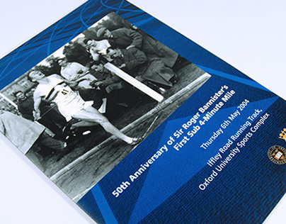 Roger Bannister sub 4-minute mile anniversary brochure