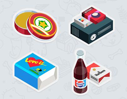 90th – sticker set