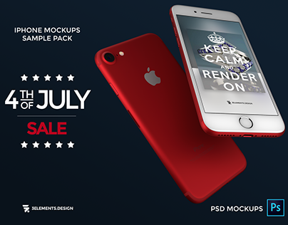 iPhone 7 and 7 Plus Photoshop Mockups On Sale