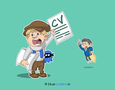 Un CV ! Qui veut mon CV ? - BLUECODERS