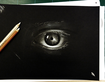 Black paper sketches and artwork