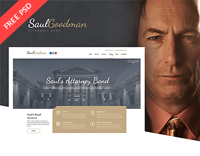 SaulGoodman - Law & Attorneys Theme (Free PSD)