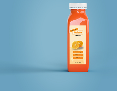 Sticker for orange juice bottle