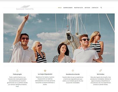 Colaborador en el desarrollo y diseño damadyachts.com