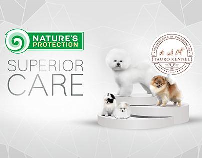 Visual identity. Pet food brand sponsors Kennel