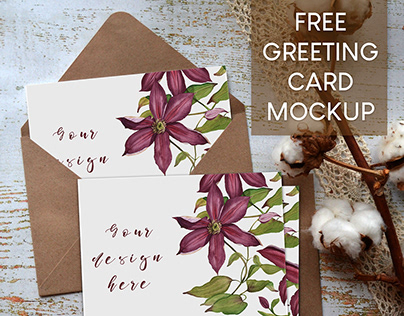 FREE Greeting Card Mockup
