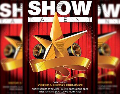 Show Talent - Club A5 Template