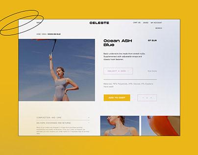 CELESTE Web design