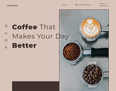 Coffee Bar Landing Page