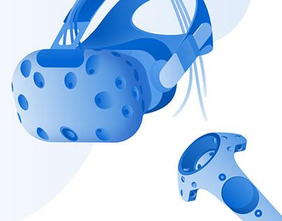 Enversed Studios VR Hardware Illustrations