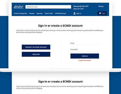 East Coast Metal Distributors   UI/UX 2020 ecommerce