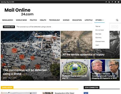 MailOnline24 Newspaper Website