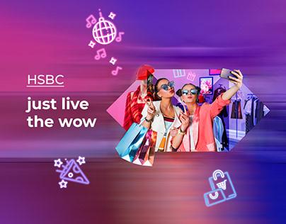 HSBC Card Usage Key Visual