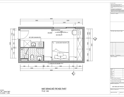 Technical drawing of apartment interior