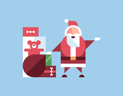 Holiday Illustrations for Downtown Summerlin