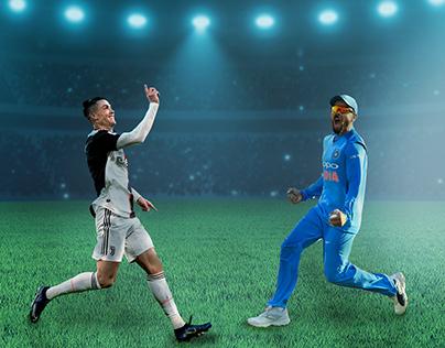 Virat Kohli - Ronaldo poster