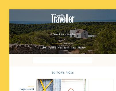 Conde Nast Traveller Homepage Concept