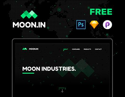 MOON.IN - Free Photoshop Sketch & Principle.